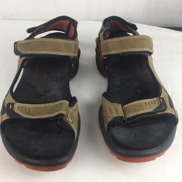 "Ecco Other - Ecco ""Yak"" sandals tan/orange accents- 12"